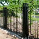 Metal vertical bar fencing